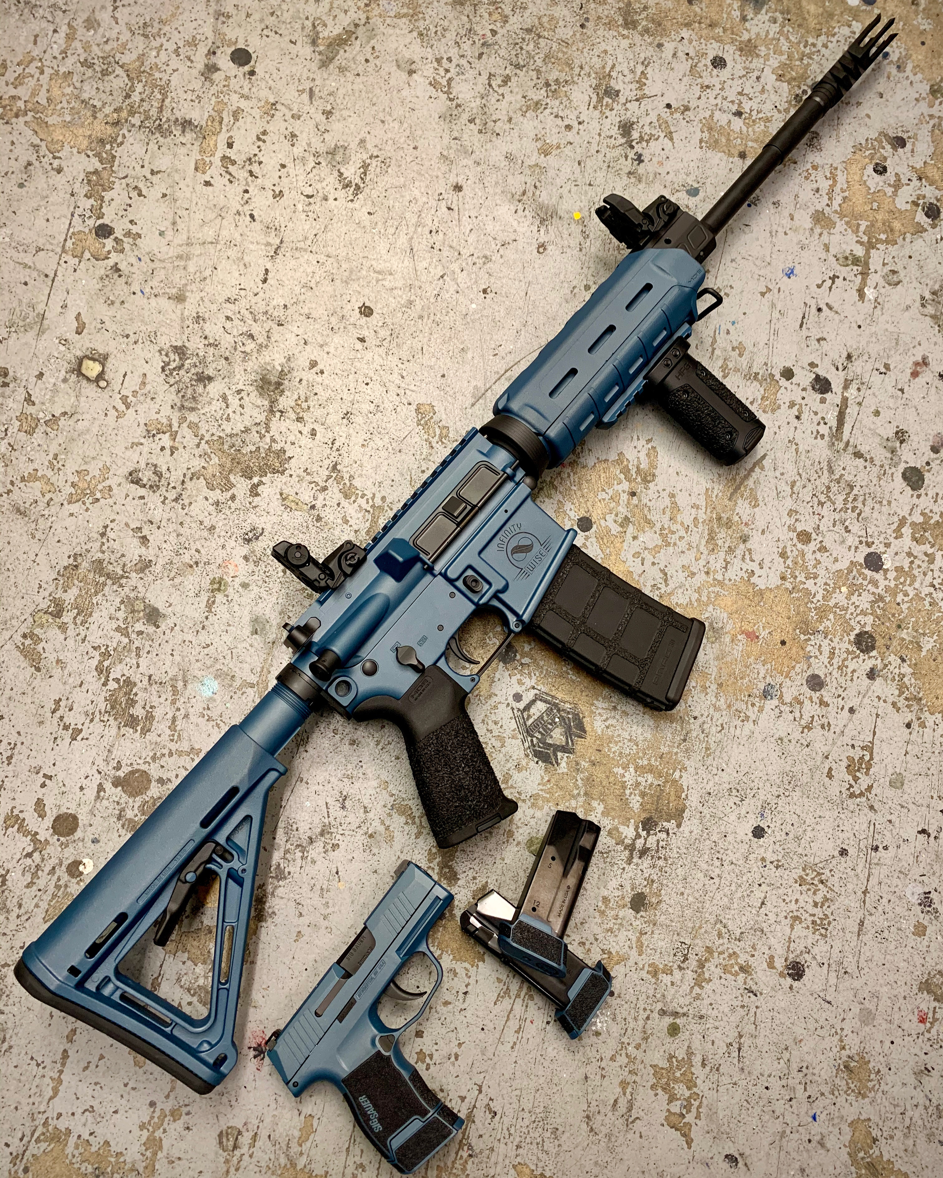 SigSauer Rifle & Pistol Blue